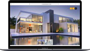 نمونه طراحی سایت املاک چکاوک توسط آژانس خدمات کسب وکار راحت بین RahatBin
