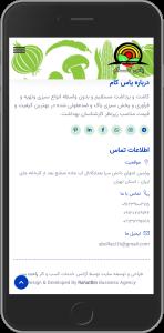 نمونه طراحی سایت طراحی شده توسط آژانس خدمات کسب و کار راحت بین RahatBin برای شرکت یاس کام