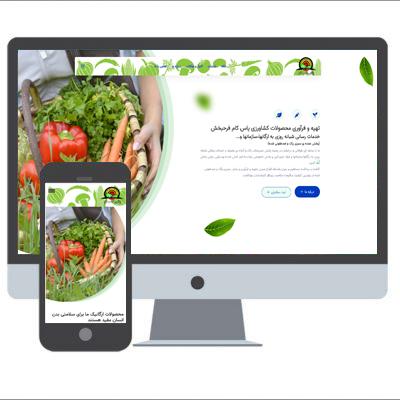 نمونه کار طراحی سایت سبزی پاک توسط آژانس خدمات کسب و کار راحت بین RahatBin