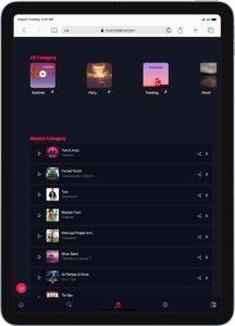 طراحی سایت موزیک تهیه توسط گروه راحت بین RahatBin
